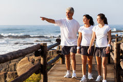 Healthy family walking Royalty Free Stock Image