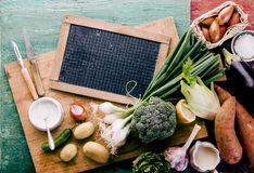 Healthy farm fresh vegetables for dinner Royalty Free Stock Image