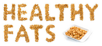 Healthy fats, peanuts Royalty Free Stock Photos