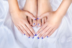 Healthy feet and hands Royalty Free Stock Photography
