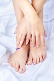 Healthy feet and hands Royalty Free Stock Images
