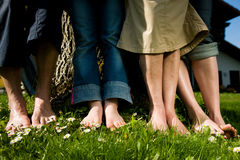 Healthy feet: In a row Royalty Free Stock Image