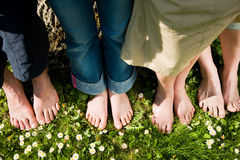 Healthy feet: In a row Royalty Free Stock Photography