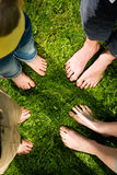Healthy feet: standing togehter Stock Images