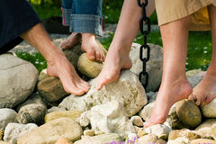 Healthy feet: on the stones Stock Image