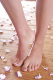 Healthy feet of a young woman Stock Image