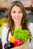 Healthy female shopping Stock Images