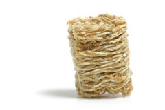 Healthy Fiber. A frosted mini wheat Royalty Free Stock Images