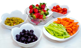 Healthy finger foods Royalty Free Stock Images