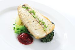 Healthy fish dinner Royalty Free Stock Photography