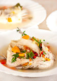 Healthy fish soup Royalty Free Stock Photos