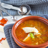 Healthy Fish Soup. Homemade healthy fish soup - Fisherman's Soup Stock Photo