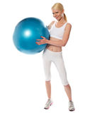 Healthy fit female athlete with a ball Stock Photo