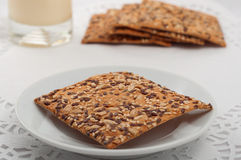 Healthy fitness cookies with different seeds Stock Image