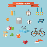 Healthy and fitness icon Royalty Free Stock Photos
