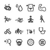 Healthy and fitness icon set, vector eps10 Royalty Free Stock Photo