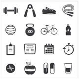 Healthy and fitness icon Stock Images