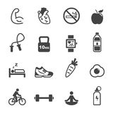 Healthy and fitness icons Stock Photography