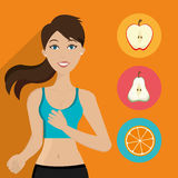 Healthy fitness lifestyle Royalty Free Stock Images