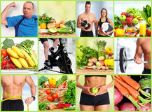 Healthy fitness people set. Stock Photos