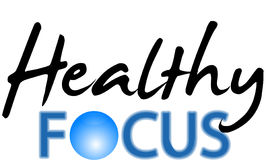 Healthy Focus. For label healthy article Stock Images