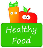 Healthy food stock illustration