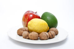 Healthy food. On white plate Stock Photography