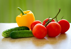 Healthy food. Vegetables. Fresh healthy food on the table Royalty Free Stock Photo