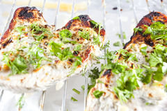 Healthy food. Grilled chicken breasts - Dukan Diet Stock Photo