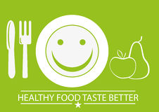 Healthy food. Simple illustration of a healthy food concept Royalty Free Stock Images