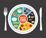 Healthy food. Over gray background vector illustration Stock Images