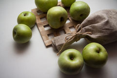 Healthy food: apples Stock Photos