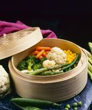 Healthy Food. Steamed vegetables. royalty free stock photos