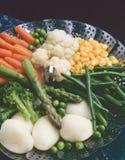 Healthy Food. Steamed vegetables. stock image