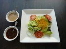 Healthy food avocado salad Royalty Free Stock Photos