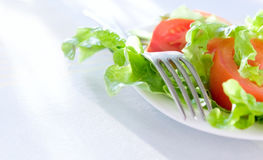 Healthy food background. Background of healthy food. Salad closeup Stock Photography