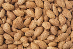 Healthy food background. Almond. Royalty Free Stock Photo