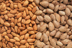 Healthy food, background. Almonds Stock Photos