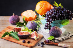 Healthy Food Background with Colorful Fruit Royalty Free Stock Image