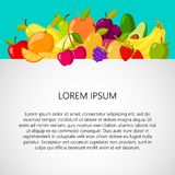 Healthy food background. Design template banner. Vector isolated on white background stock illustration