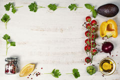 Healthy food background. Flat lay Royalty Free Stock Image