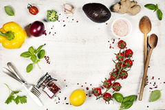 Healthy food background Stock Photos