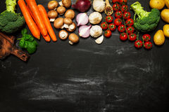 Healthy food background. Healthy food concept with fresh vegetab Stock Photos