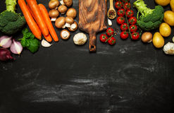 Healthy food background. Healthy food concept with fresh vegetab Stock Photo