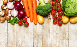 Healthy food background. Healthy food concept with fresh vegetab Stock Photography