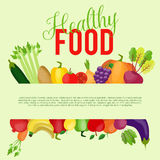 Healthy food background with place for your text. Vector illustration Stock Photography