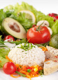 Healthy food background, rice with vegetables Stock Photo