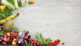 Healthy food background. Studio photo of different fruits and vegetables