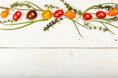 Healthy food background. Studio photography of different vegetables on old wooden table. Healthy food background. Studio photography of different fruits and Royalty Free Stock Image