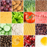 Healthy food backgrounds. Collage of healthy food backgrounds Stock Photos
